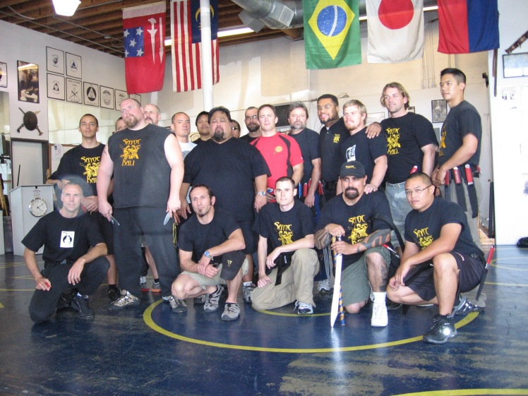 Pamana Tuhon group photo at the Inosanto Academy, 2007