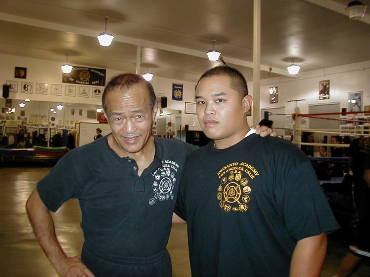 Guro Dan Inosanto & Guro Joe at the Inosanto Academy on Manchester, 2003