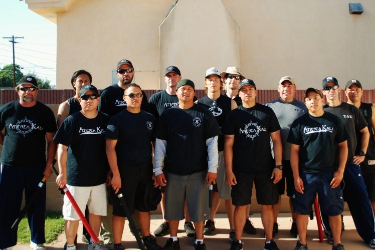 Atienza Kali Long Beach group photo with Tuhon Carl Atienza, Long Beach, 2012
