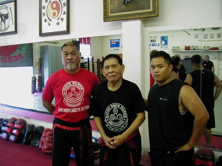 Guro Richard Bustillo, Grandmaster Cacoy Canete & Guro Joe, 2004