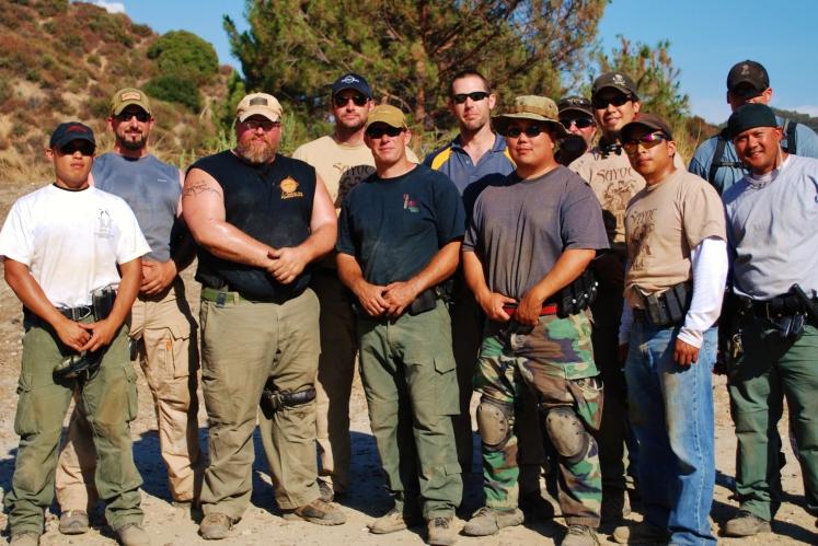 Sayoc Tactical Pistol 1.0 with Tuhon Tom Kier & Sayoc LA group photo, Los Angeles 2011