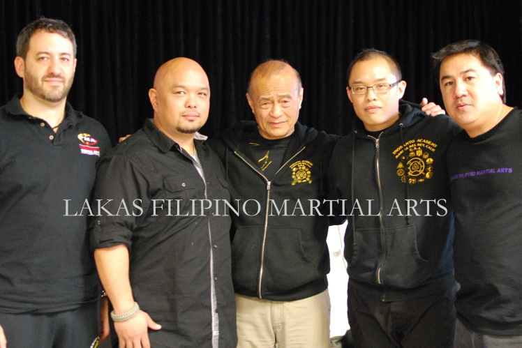 Guro Nick Sacoulas, Tuhon Patrick Consing, Guro Dan Inosanto, myself and Guz Gamboa